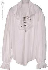 Chemise d'époque pour homme, Blanche taille M/L deguisement adultes pirate