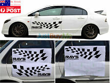 Black Rays Engineering Vinyl Graphics Car Door Side Protector Sticker Race 60cm