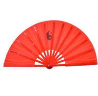 Tai Chi Wooden Fan - Traditional Martial Arts Folding Bamboo Design - UK Stock