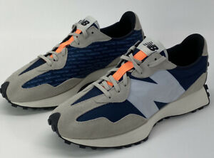 New Balance 327 Womens Size 12 B The Intelligent Choice Blue Grey Sneakers Suede