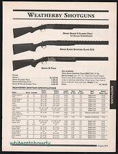 2000 WEATHERBY Orion Grade II Classic Field, Super Sporting Clays Shotgun AD