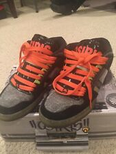 Rare! OSIRIS NYC 83 MID Black/Lime/Black Sneakers Skateboard SB Size US 8