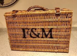 Genuine - Fortnum And Mason F&M Picnic Hamper Wicker Basket LARGE