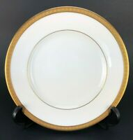 """Royal-Doulton English Fine Bone China 8"""" Plate Made in England H.4980 Gold Ivory"""