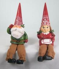 Nordic Gnome Shelf Sitters Tabletop Holiday Christmas Decor Set of 2