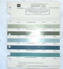 1959 CHEVROLET ACME COLOR PAINT CHART ALL MODELS ORIGINAL