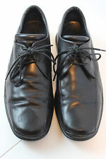 Cole Haan Nike Air Black Leather Oxfords Shoes 7.5W