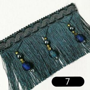 Curtain Tassel Sewing Bead Fringe Trim Wedding Upholstery Fabric Ribbon DIY Chic