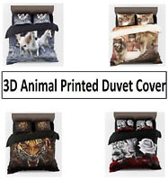 3D Animal Printed Duvet Quilt Cover Bedding Set Single Double King Super King