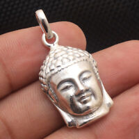 Vintage BUDDHA Pendant Charm in Solid 925 Sterling Silver 3.5 cm  #N72