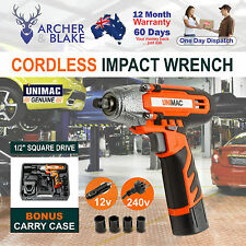 Cordless 12v Impact Wrench Lithium-ion Battery Carry Case Lightweight Portable