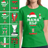 Mama Elf Shirt Women's Christmas Costume Tshirts Family Elf Shirts Elf Xmas Suit