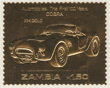 Zambia 5216 - 1987 CLASSIC CARS - Cobra en 22K or foi Non montés excellent état