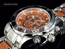 Invicta 48mm Grand Diver WOOD Dial Quartz Chronograph Wood Insert Bracelet Watch