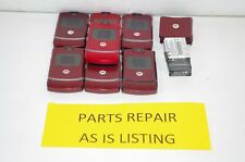 Lot of 7 Motorola Razr V3 Camera Bluetooth Flip Cell Phones Red