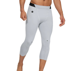 Under Armour RUSH Compression Leggings Mens Small to 2XL New 3/4 Training Gray