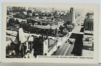 Hollywood Boulevard Showing Grauman's Chinese Theatre RPPC Postcard K14