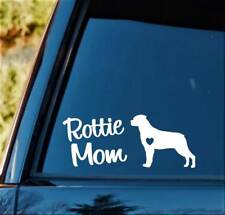 M1141 Rottie Mom Rottweiler Dog Breed Decal Sticker Pet Gift Accessory Art