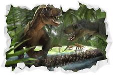 3D T-Rex Dinosaurs Wall Break Sticker Art Tyrannosaurus Boys Bedroom Jurrasic