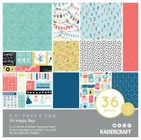 "KAISERCRAFT Scrapbooking 6.5"" Paper Pad - Oh Happy Day Birthday"