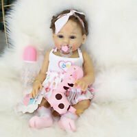 "18"" Silicone Dolls Girls Newborn Realistic Doll Preemie Girls Soft Silicone Baby"