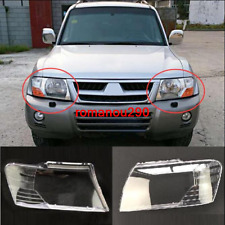 For Mitsubishi Pajero V73 2003-10 Left Front + Right Front Headlight Lens Cover