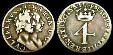 More details for w317: 1689 william & mary silver groat or fourpence. conjoined busts. spink 3439