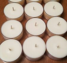 50 Soy Wax Unscented Natural  Tea Light Candle