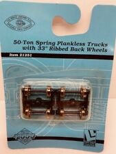 "Life Like 21251 50 ton Spring Plankless Trucks 33"" Ribbed wheels"