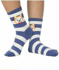 Iconic Cute Dog with Stripes Design Socks