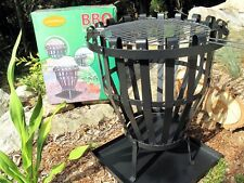 Outdoor heater fire pit with BBQ