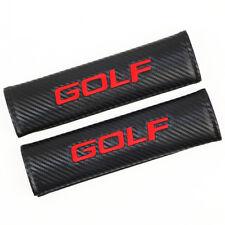 Car Carbon Firber Car Seat Belt Shoulder Pad Cushion Embroidery Logo For GOLF