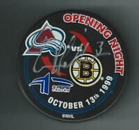 Aaron Miller Signed Colorado Avalanche 1999 Opening Night Puck