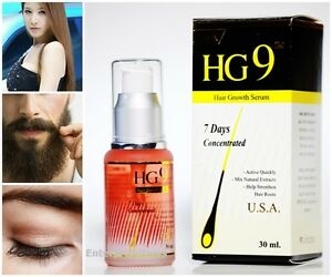 New! HG9  HAIR Growth Serum hair Concentrated Fast 7 Days Natural Longer 30 ml