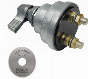 RV Trailer Battery Disconnect Switch 180A SPST Lever Pollak 51-902 ON-OFF