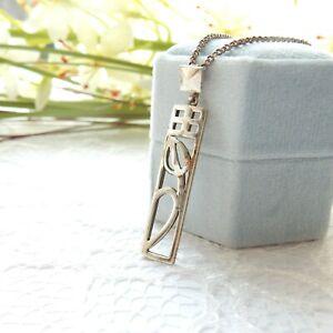 Vintage Celtic Silver Arts Crafts Pendant Necklace Sterling Silver Chain