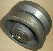 """V-Belt Pulley 4"""" Diameter 2"""" Wide Bearing Grease Fitting"""