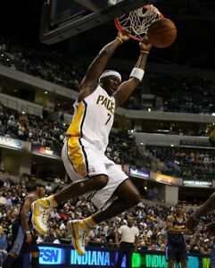 Game Worn Indiana Pacers Basketball Shoes from (former) NBA Star Jermaine O'Neal
