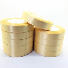 New 6/10/15/20/25/50mm Wide 25 Yards Satin Ribbon Bow DIY Craft Sewing Supplies
