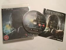 PS3 PLAYSTATION 3 GAME DISHONORED +BOX +INSTRUCTIONS COMPLETE DISC VGC