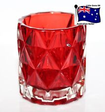 YANKEE CANDLE ** Red GLASS FRACTAL ** Votive or Tealight HOLDER ~