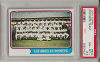 SET BREAK - 1974 TOPPS #643 LOS ANGELES DODGERS TEAM, PSA 8.5 NM-MT+, L@@K !