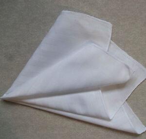 Hankie COTTON Pocket Square Handkerchief MENS Hanky PURE WHITE STRIPED