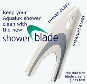 Aqualux Shower Blade & Hook Glass Cleaner Tool Car WindScreen Curved Bath Screen