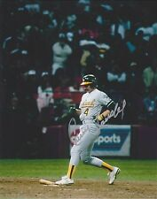 CARNEY LANSFORD SIGNED AUTO'D 8X10 PHOTO POSTER OAKLAND ATHLETICS A'S RED SOX B