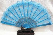 New Chinese Style Dance Party Wedding Lace Folding Hand Held Flower Fan