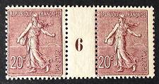 Timbre France, n°131, 20c Bruns, xx, TB mill 6, cote 510e.