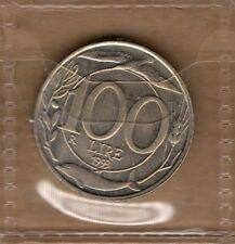 P411 Moneta Coin ITALIA Repubblica Italiana 100 Lire Italia Turrita 2° Tipo 1993