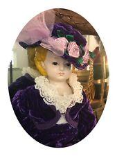 antique doll mache pumpkin head glass eyes wood arms legs old fragile Creepy