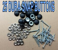 "25-DURA-SNAP UPHOLSTERY BUTTONS #30-#36 WITH 3/4"" -1 1/2"" SCREW STUDS-ANY COLOR"